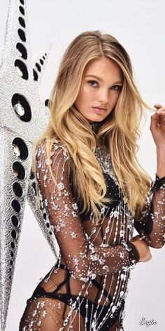 a91fd5c7a3cfe romee strijd posing at the victoria's secret swarovski crystal bra fitting  in new york
