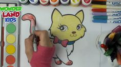 Cats Coloring Page for Kids Learn Colors For Childs