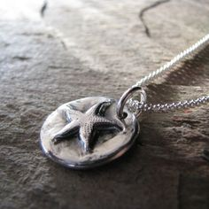 SeaStar - Handmade Starfish Pendant in Recycled Fine Silver