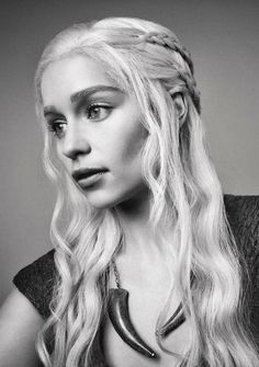 Mother of Dragons, Daenerys Targaryen. I'm not really sure if this is a drawing or not.....