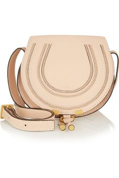 The Marcie mini textured-leather shoulder bag| Chloé