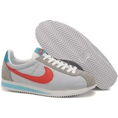 Cortez Oxford Cloth Women Nike Silver Gray Red Shoes