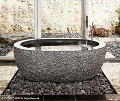Diseño de Baños Rústicos de Piedra