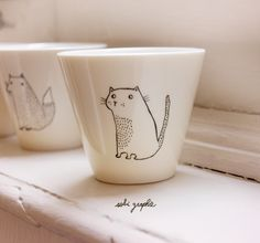 cute porcelain vessels by Sobi Graphie