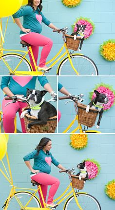 Even though I'm not doing maternity photos I love how fun and colorful these are. And that their dog is incorporated of course. :)