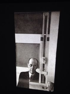 "Arnold Newman ""Piet Mondrian 1942"" Photography 35mm Art Slide"