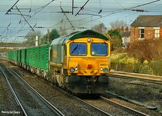Class 66 621 heads south through Leyland with a Hardendale to Guide Bridge service , Saturday January 2018 . Photo by Gary Severn . Diesel Locomotive, January 2018, Sheds, North West, Trains, Bridge, British, America, Videos