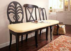 5-bancuta confectionta din trei scaune cu spatar de design diferit