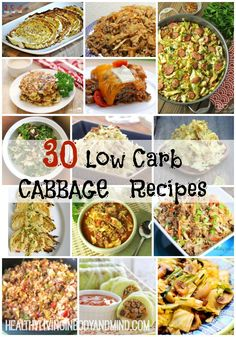30 low carb cabbage recipes healthy living in body and mind Low Carb Zucchini Recipes, Low Carb Vegetables, Low Carb Recipes, Real Food Recipes, Healthy Recipes, Clean Eating, Low Carb Side Dishes, Sprout Recipes, Cabbage Recipes