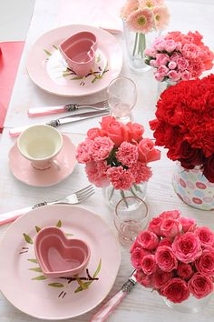 ♥ Valentine's Day ➸ Table Decor