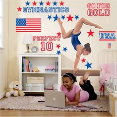 Perfect Gymnastics Wall Decals For Girls Bedroom   Modern Homes .