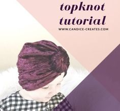 Step by step instructions to make a topknot in less than 15 minutes. Sewing Headbands, Diy Baby Headbands, Baby Bows, Baby Sewing Projects, Sewing For Kids, Baby Turban Headband, Hats For Cancer Patients, Topknot Tutorial, Bow Tutorial