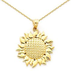 Gold Sunflower Jewelry