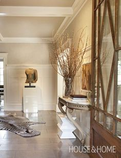 Spacious Exotic Foyer | Photo Gallery: Modern Safari | House & Home | Photo by Colin Way