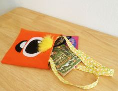 Monster Library Tote Bag for Kids from Lu & Ed