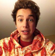 Austin finally got a pizza jacket