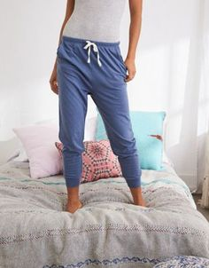 Aerie Jersey Jogger by  American Eagle Outfitters   Get cozy. Aerie girls wear the pants!Get cozy. Aerie girls wear the pants! Shop the Aerie Jersey Jogger and check out more at AE.com.
