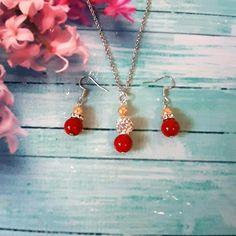 Wedding Necklaces, Wedding Earrings, Wedding Jewelry, Orange Earrings, Pearl Earrings, Drop Earrings, Groom Gifts, Bride Gifts, Pearl Set