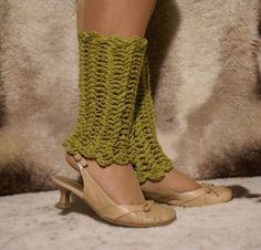 Crochet Olive Leg Warmers by MotivesAndPatterns on Etsy, $22.00