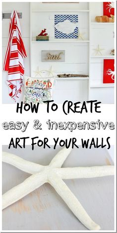 How to Create Inexpensive Wall Art.  Creative and fun way to make your home... yours