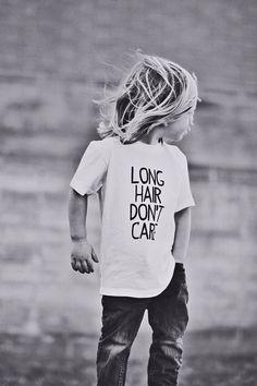 Long hair don't care Long hair on boys Children photography Hoyt william shi...