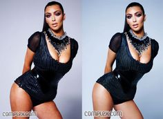 Kim Kardashian Photoshopped - ladies don't compare yourself to magazines