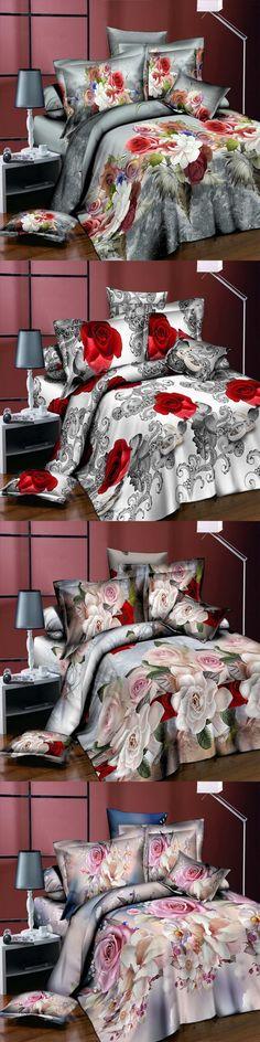 Colorful Peony Flower Home Textiles 3D Bedding Sets Cotton Panther4 Pcs Duvet  Cover Set Flat Sheet 6685d7fcb4be0