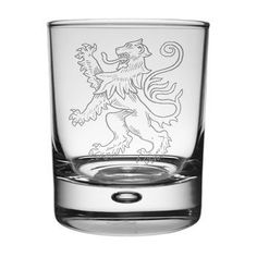 Lion Rampant Whisky Tumbler . . Sold by TartanPlusTweed.com A family owned kilt and gift shop in the Scottish Borders