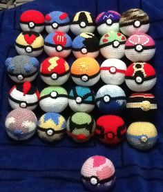 Crochet Pokeballs by Onlera.deviantart.com on @DeviantArt