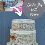 Map Crafts, Home Crafts, Tin Siding, Os Maps, Decoupage Glue, Leather Scraps, Travel Themes, Wooden Blocks, Scandinavian Christmas