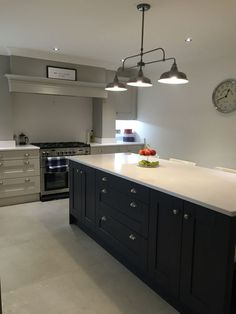 Farrow and Ball Cornforth White and Railings kitchen