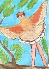 "nfac ACEO July Bird Theme: ""Tiny Dancer"""