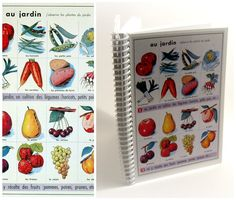 Vegetables and Fruits  Spiral Notebook 4x6 by Ciaffi on Etsy, $112.50