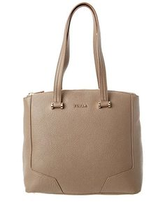 a7d7d0657 Furla Michelle Medium Leather Tote, Daino * You can find out more details  at the link of the image. Handbags & Wallets