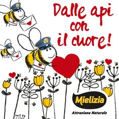 Le api sono i romantici postini dei messaggi d'amore che, da lontano, si scambiano i fiori! Dolce San Valentino a tutti! <3  #api #amore #sanvalentino #miele #mielizia