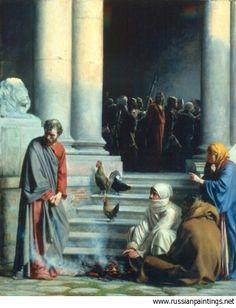 Peter's Betrayal, by Carl Bloch