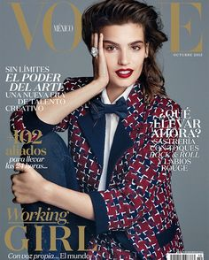 Alma Jodorowsky by Alvaro Beamud for Vogue México October 2015 covers - Chanel Fall 2015 Vogue Magazine Covers, Fashion Magazine Cover, Fashion Cover, Vogue Covers, Working Girl, Catherine Mcneil, Vogue Mexico, Chanel Outfit, Vogue Uk