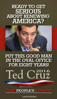 #TedCruz2016 For America! ... My prayer is for God to raise a good, decent man to help restore America to the country it is meant to be...