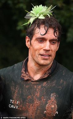 Henry crawled through mud, and swam in near-freezing water in the event organised by the R...