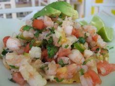 Tropical Ceviche with Shrimp, Mango and Avocado!