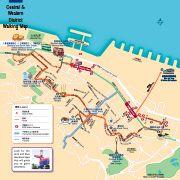 Central and Sheung Wan map (Walking tour Inc escalator)