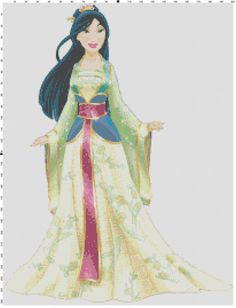Mulan cross stitch pattern PDF