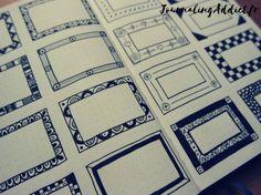 Cadres et bordures pour embellir le bullet journal