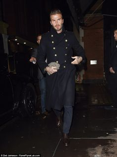 Time to party:David Beckham is certainly making the most of life in London, heading out into the capital on Wednesday night with his a-list pals in tow