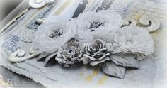 Crushed Voile Peony Tutorial by Tracey Sabella ~ GDT for Donna Salazar: Side view of Peonies