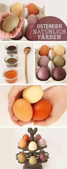 DIY-Anleitung: Ostereier natürlich färben, mit Lebensmitteln färben / diy tutorials: how to color easter eggs via http://DaWanda.com