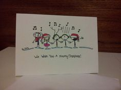 Hand Drawn Christmas Card by CuteLilStuffs on Etsy, $2.50