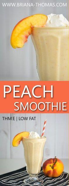 Peach Smoothie - THM:E - Trim Healthy Mama E - low glycemic - no sugar added - gluten free - egg free - nut free