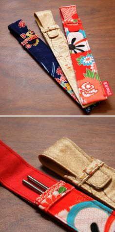 Canvas chopstick case