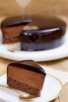 Bolo Mousse de Chocolate   Vídeos e Receitas de Sobremesas - RECEITA DA COBERTURA